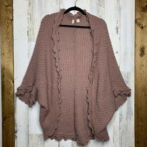 Moth Anthropologie knitted cardigan open front